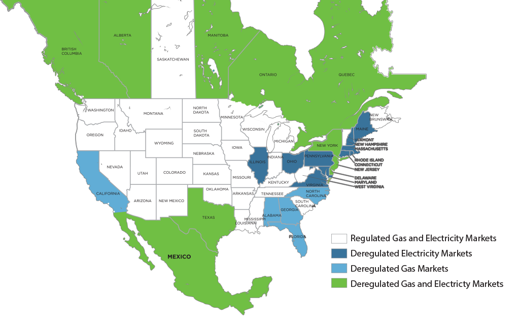 Map of Deregulated Energy States